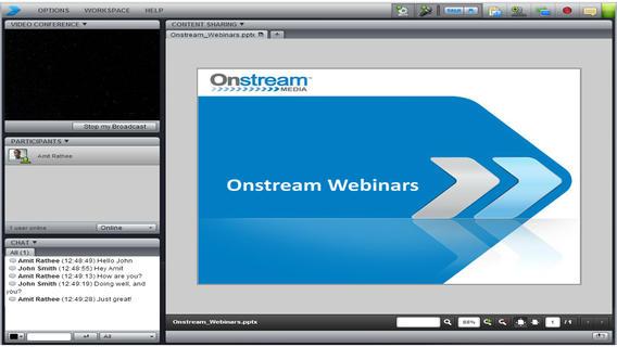 Платформа для бесплатных вебинаров Onstream webinar.