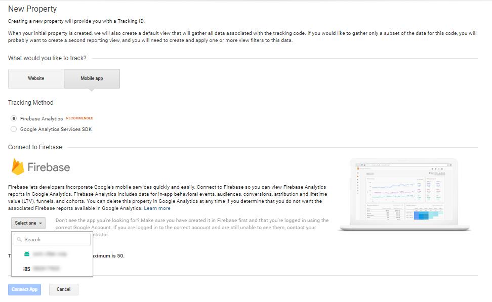 свързваме Firebase с Google Analytics