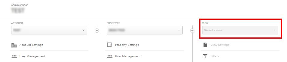 във Firebase Analytics в момента няма възможност да се настройват отделни изгледи на собственостс определени филтри
