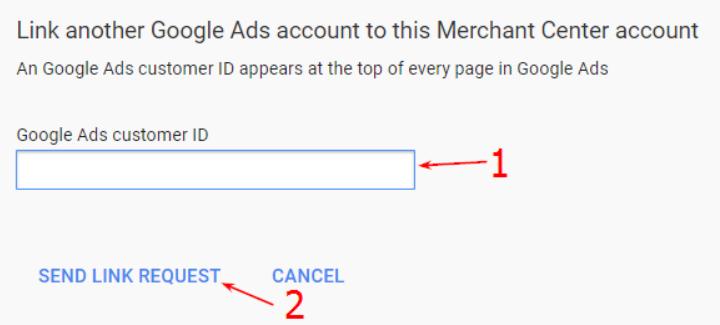 send link request button