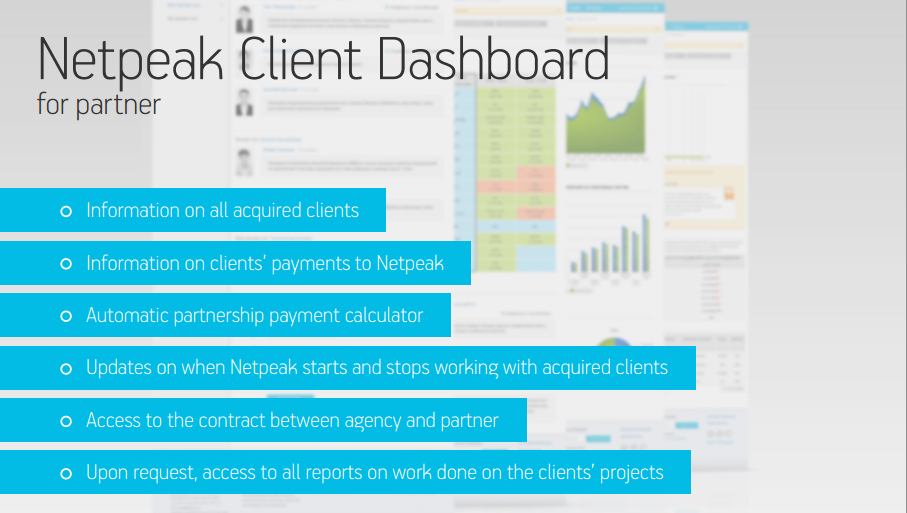The Netpeak Client Dashboard for Partners