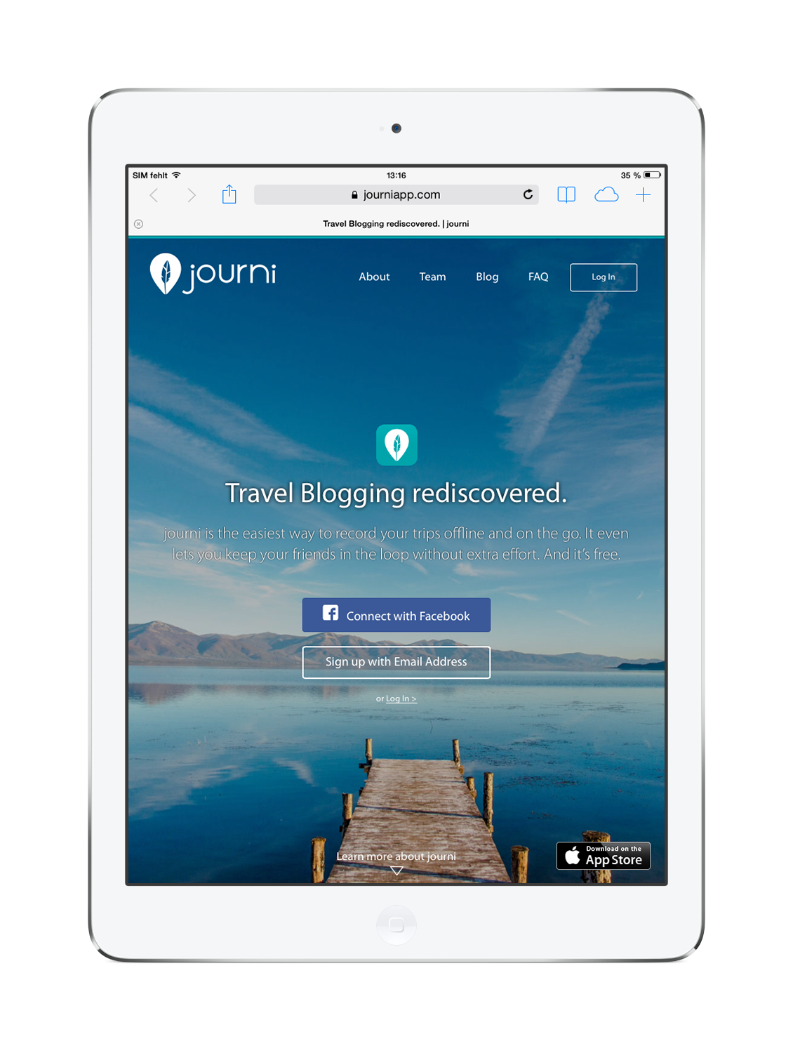 At the moment the Journi app is completely for free