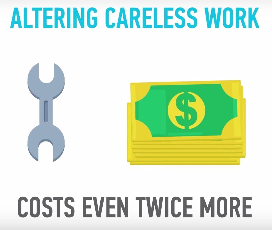 Altering careless work costs even twice more