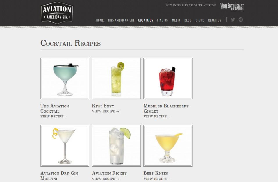 Cocktail Menu with Recipes