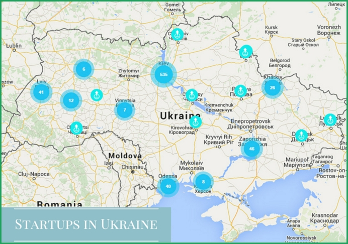 Ukrainian startups map