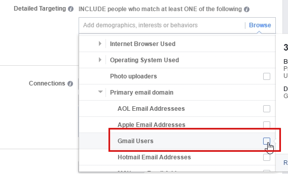 Target the primary email domain