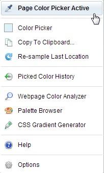 С помощта ColorZilla може да изберете цвета на всеки елемент от страницата