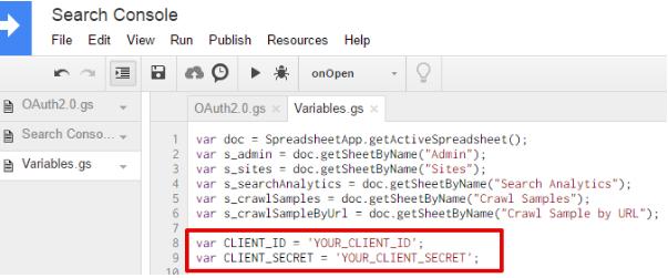 Включете услугата в проекта Apps Script.