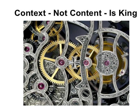 Контекста, не контента, е важен