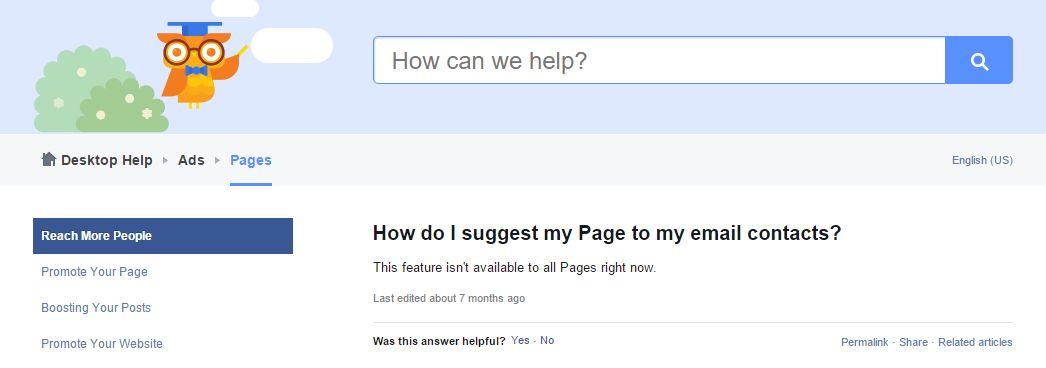 Техническата поддръжка на Фейсбук отговаря лаконично