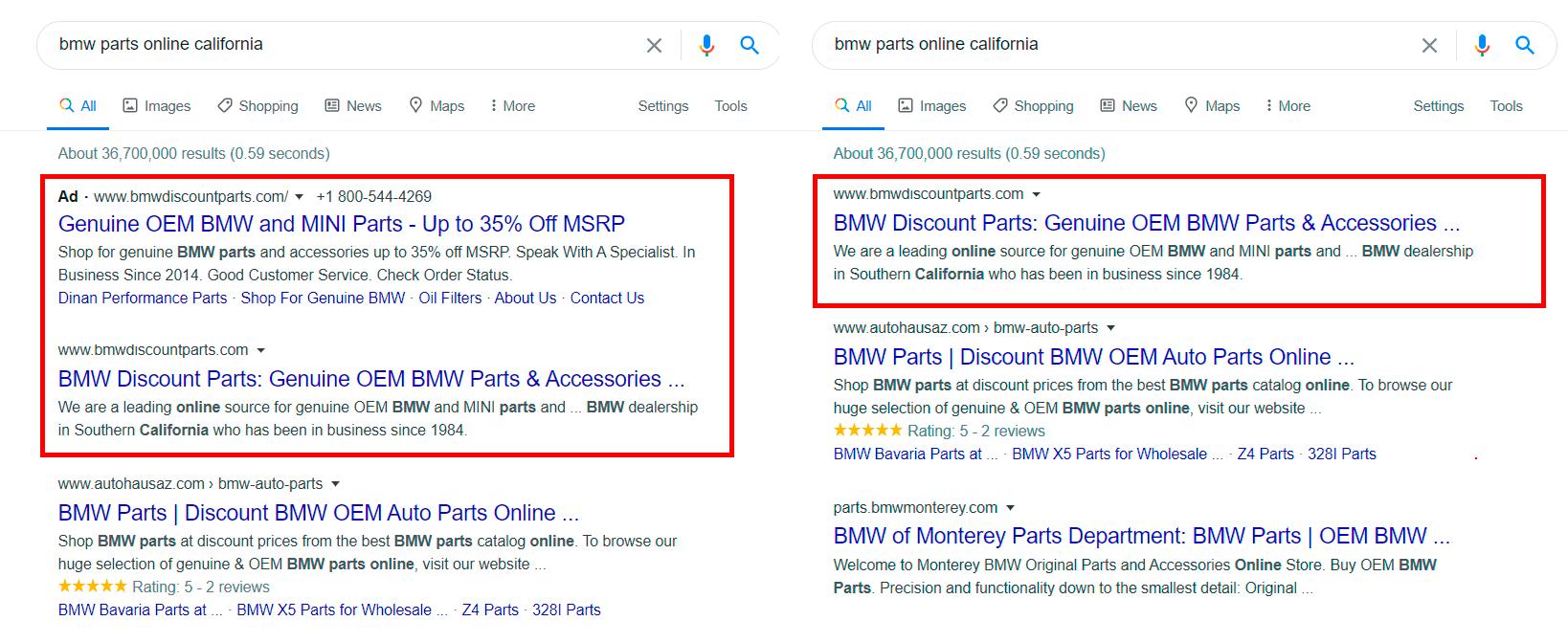 скрипт, который исключает из рекламных кампаний в Google Ads запросы, которые занимают высокие позиции в органической выдаче