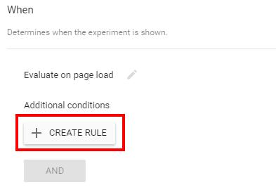 Создать правило активации