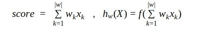 Сравним формулу линейной скоринг модели и функцию работы одного нейрона (или однослойной нейросети)