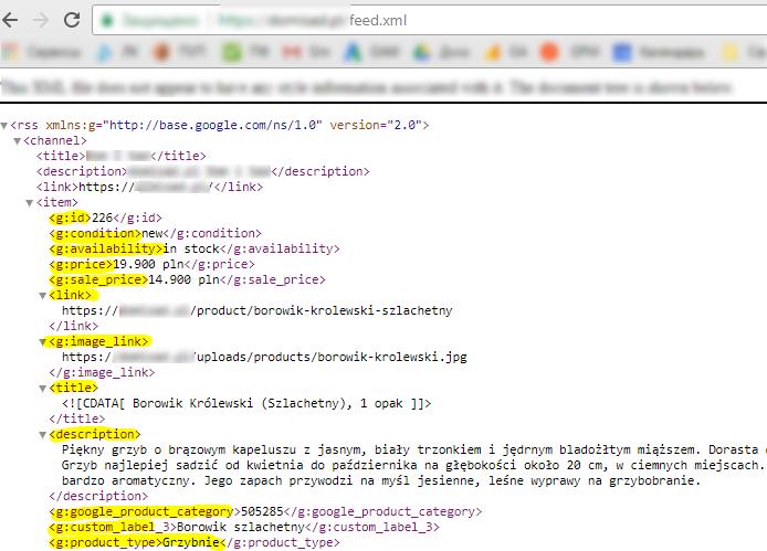 Файл XML с нужными данными можно создать прямо на сайте
