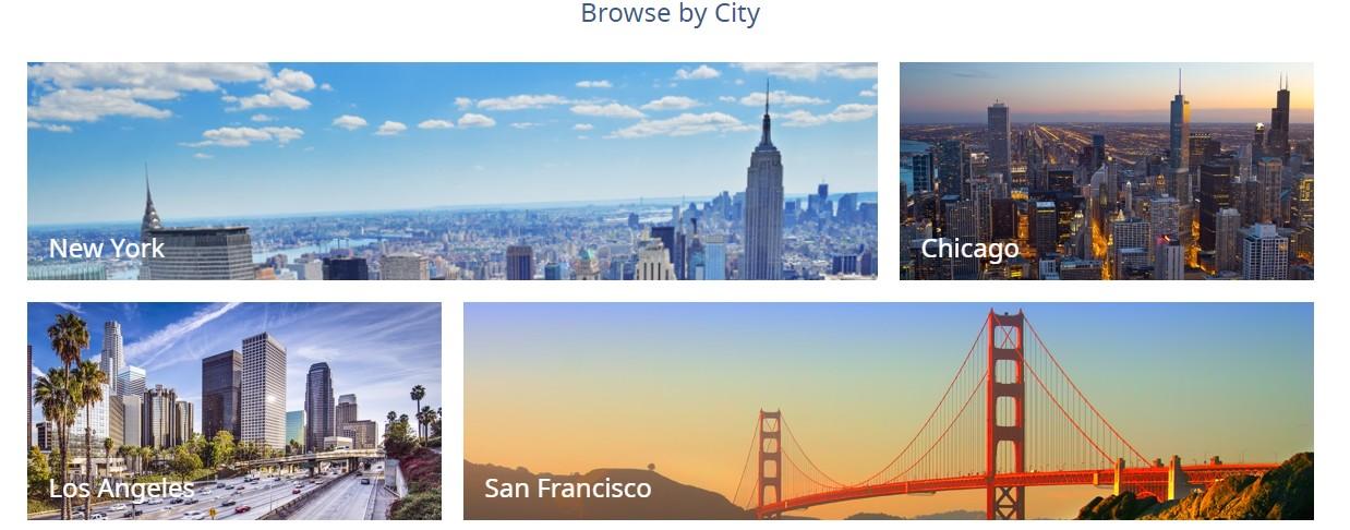 Тематические фото городов доставки или дочерних компаний