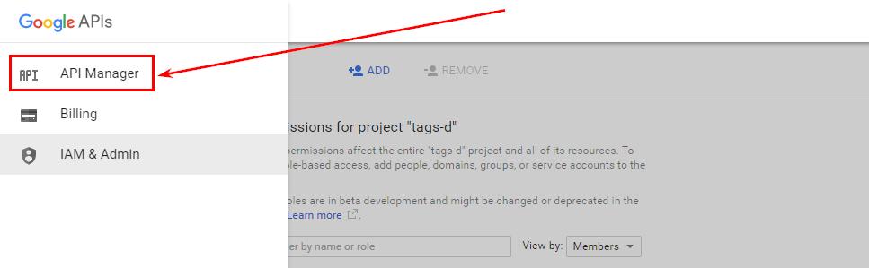 Убедитесь, что для проекта активирован API BigQuery