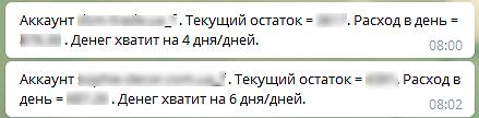 Уведомления в Телеграм