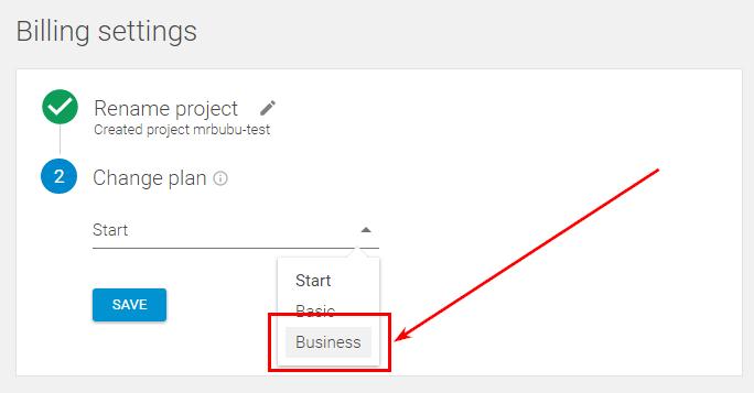 Владелец бизнеса должен зайти в проект, выбрать тариф Business