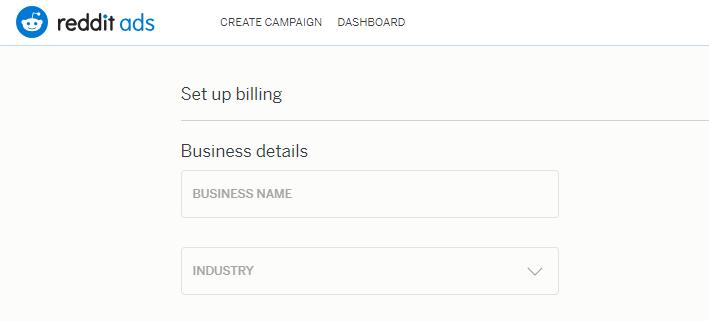 Вводим название компании и определяем нашу индустрию