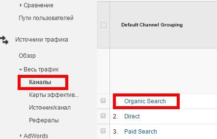 Выгрузка страниц из Google Analytics