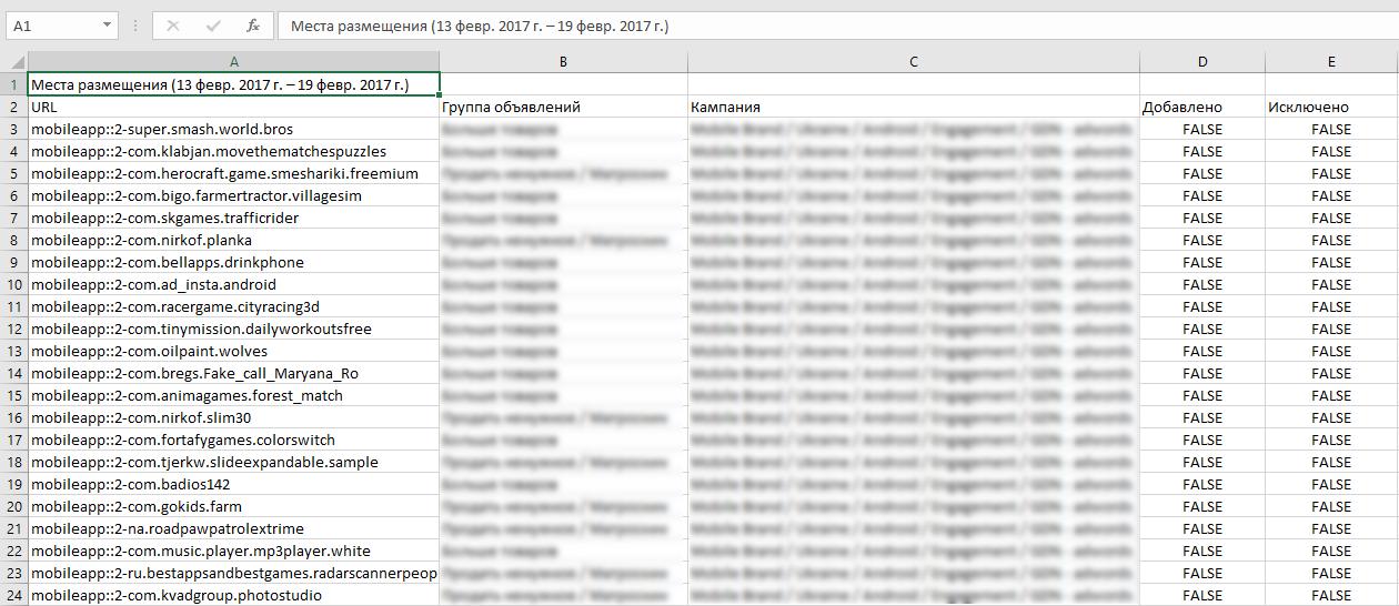 Загруженный файл из площадками